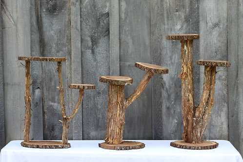 large wood cupcake stands(3)