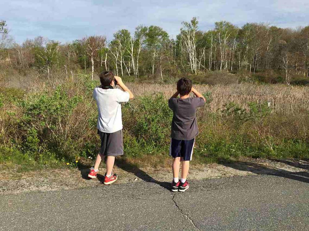 Two boys over marsh.JPG