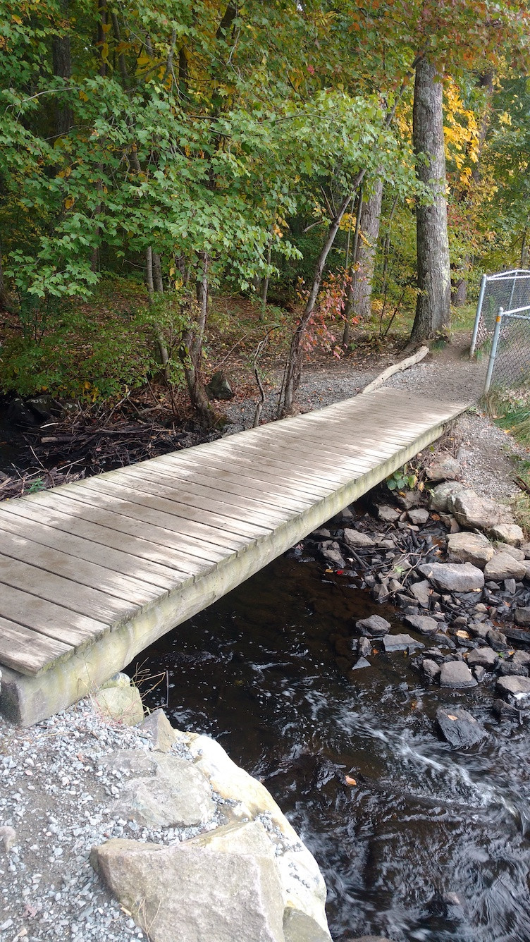 Boardwalk over spillway