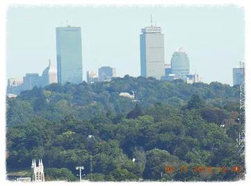 This month it's Doublet Hill, with a fabulous view of Boston.