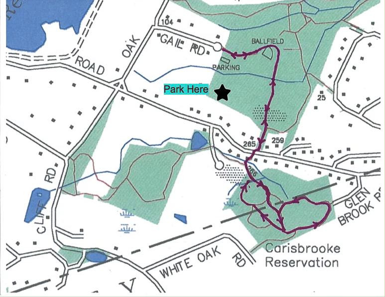 Map of parking location