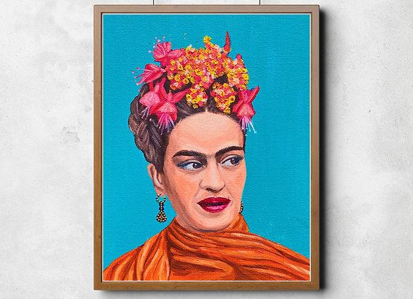 Frida Kahlo, Mixed Media Portrait