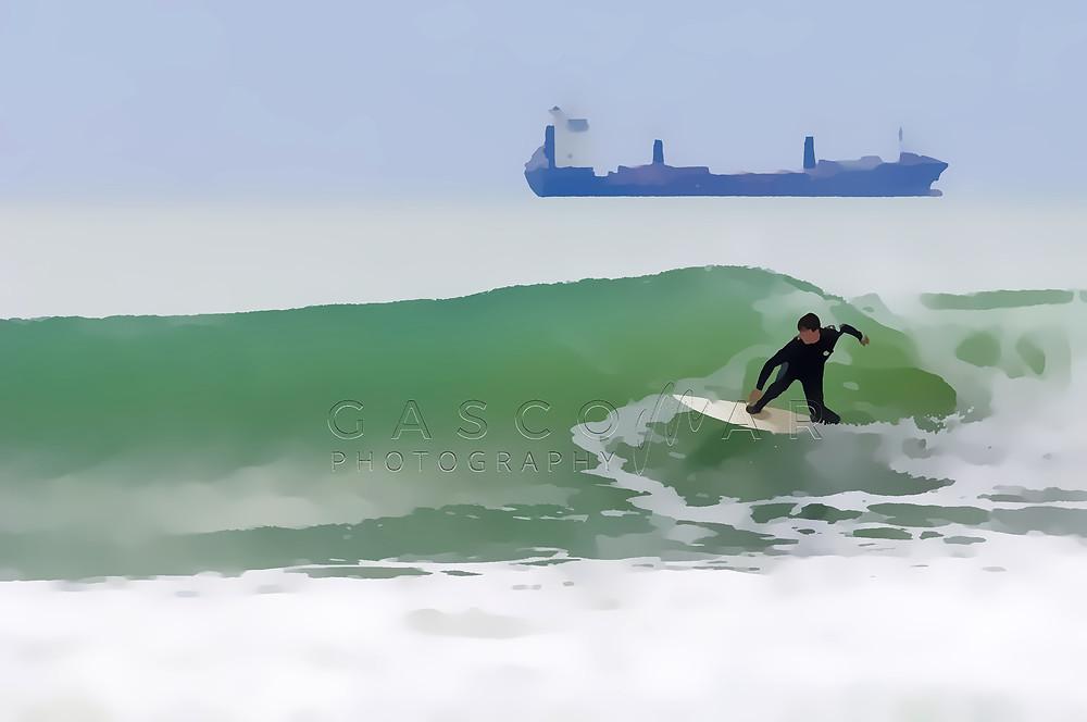 Ilustración Surf Carlos Gascó - Fotografía Surf