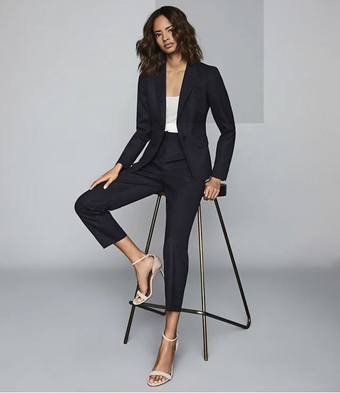 Navy Pant Suit