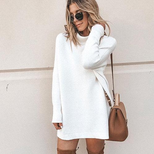 Casual Winter White Mini Dress