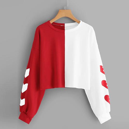 Red White Sweat Shirt