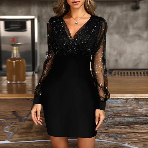 Retro Elegant Sequins Party Dress