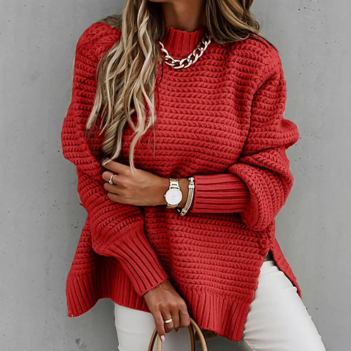 Solid Turtle Neck Sweater