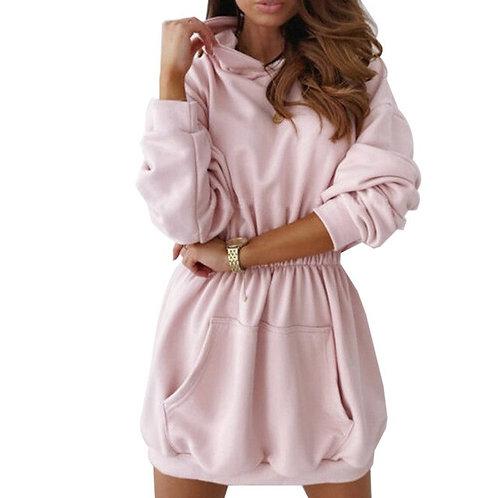 Long Hooded Sweatshirt Dress
