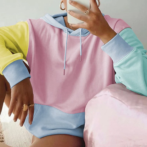 Candy Pink Multi-Color Hoodie