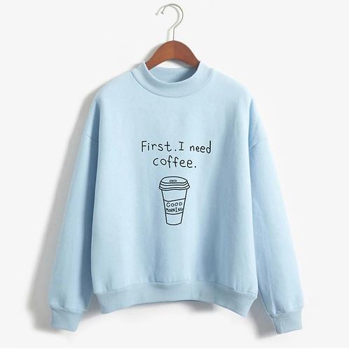 Casual Printed O-neck Top Sweatshirt