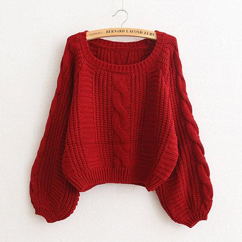 Women Casual O-Neck Twist Soft Sweaters