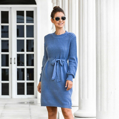 Winter Casual Full Sleeve Sweater Dresses