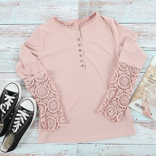 Casual Lace Sleeve Top