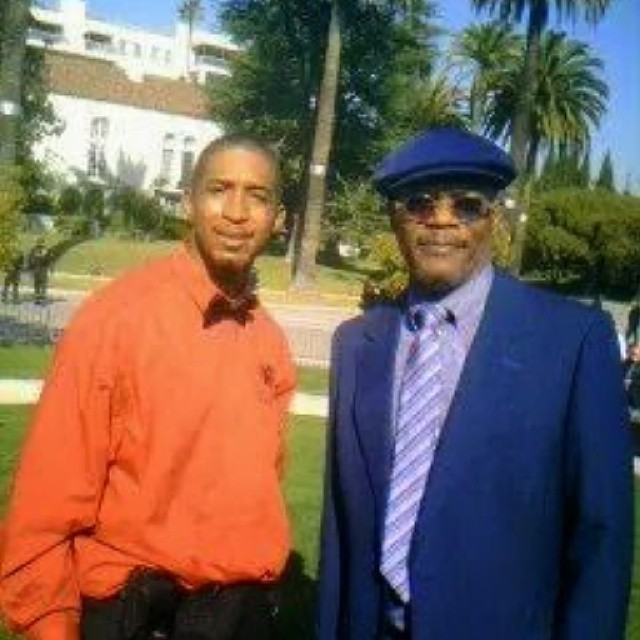 Me and Samuel L Jackson at Patti Lawson house for a lunch in with very special guests Michelle Obama