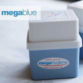 megaBlue Toilet Flush Scented