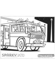Color A Fire Truck