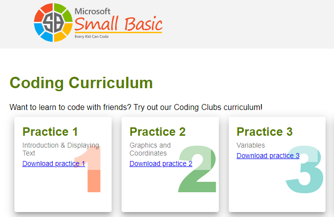 The Image Links to The Coding Curriculum