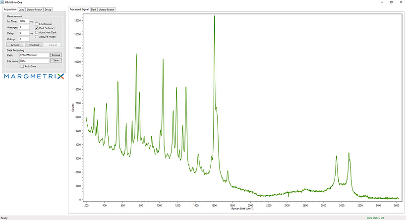 Raman spectra example REVA software
