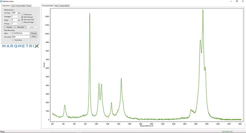 Raman spectra example REVA software