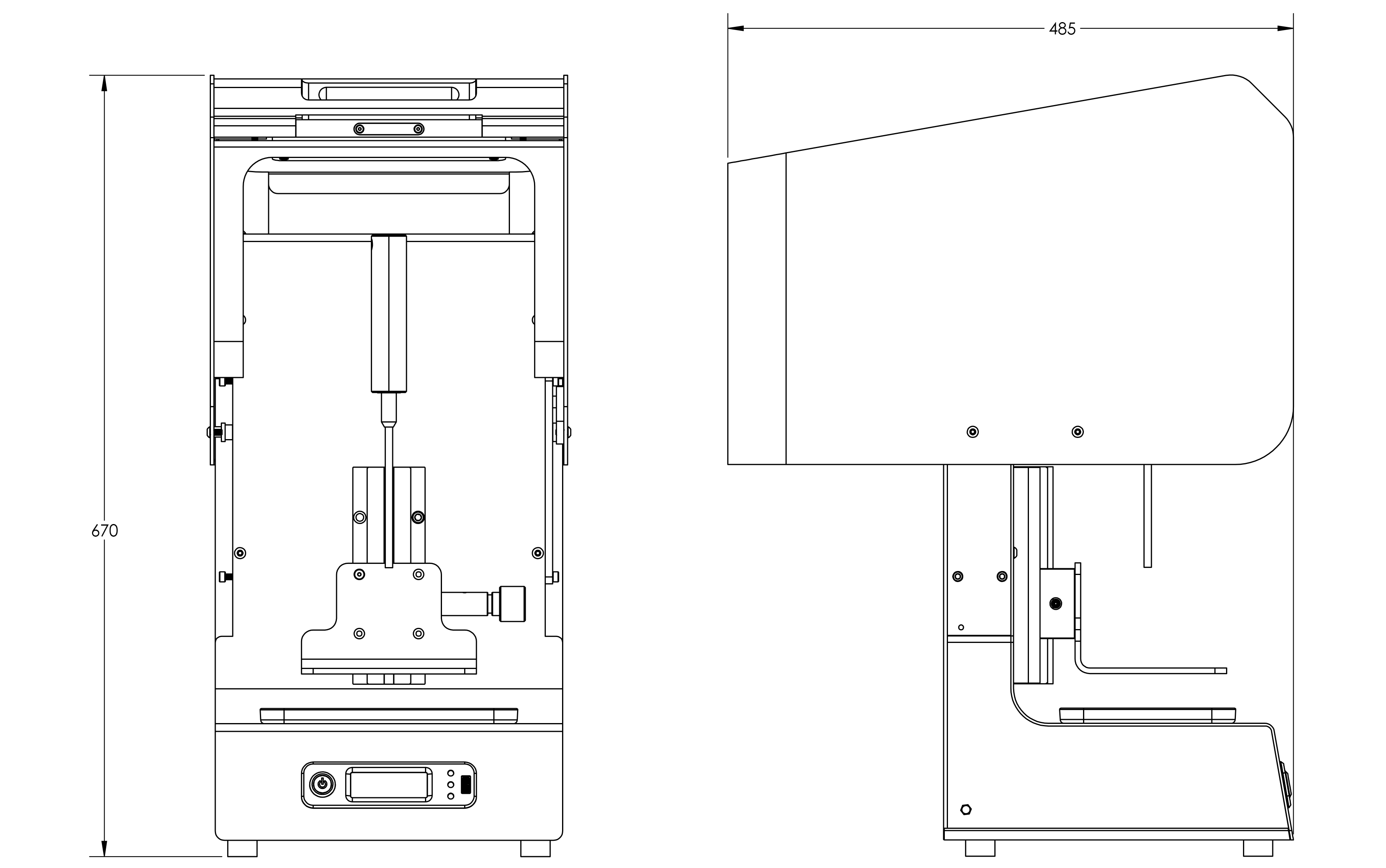 Open Reva production dimensioned line drawing (metric)