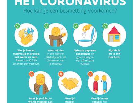Het coronavirus: hoe een besmetting voorkomen?