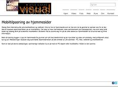 Bildet viser webside som ikke er mobiltilpasset i den størrelsen den vil fremstå på en mobiltelefonskjerm.
