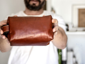 Cuidados com a necessaire em couro legítimo