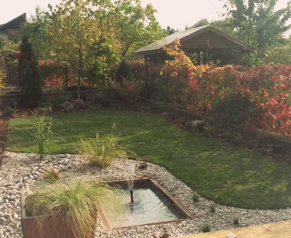 Zahrada po revitalizaci