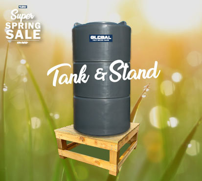 700L Poly Tank with Stand OR Pump