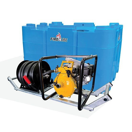 Fire Cube FC900-DSK Water Cartage Tank Plus Pump and Reel Skid