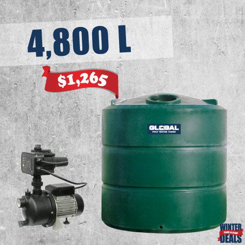 4,800L Tank & Garden Pump Deal