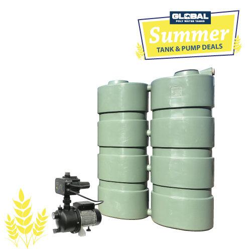 2,000L Slim Line Poly Tank & Pump Package
