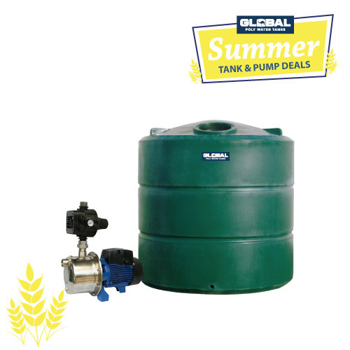 4,800L Poly Tank & Pump Package