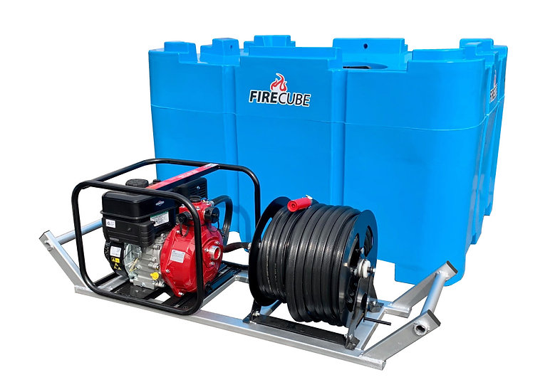 Fire Cube 900 L Water Cartage Tank Plus Pump and Reel Skid
