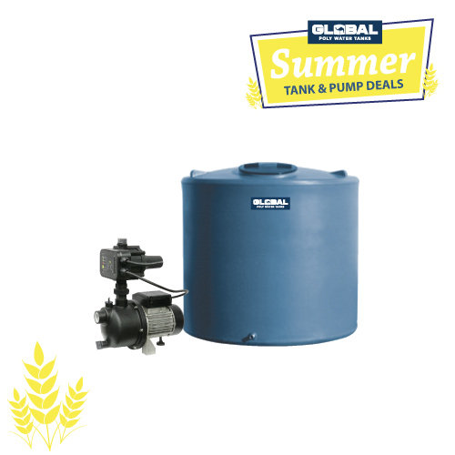 2,000L Poly Tank & Garden Pump Package