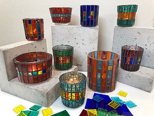 Kessel Mosaic - Tea Light Holders.JPG