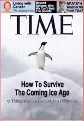 The 1970s era hysteria dealing with warnings about global cooling...
