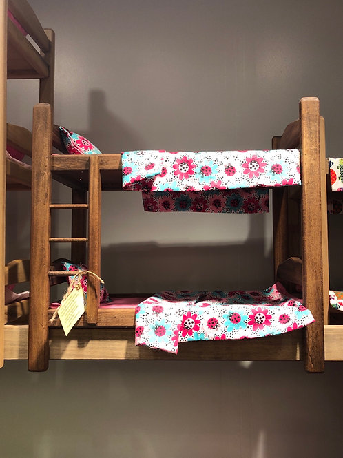 Double Bunk Bed with Sheet Sets