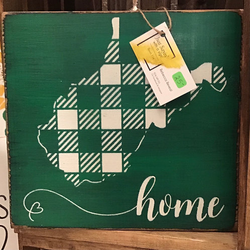 "Green WV ""Home"" Wall Hanging"
