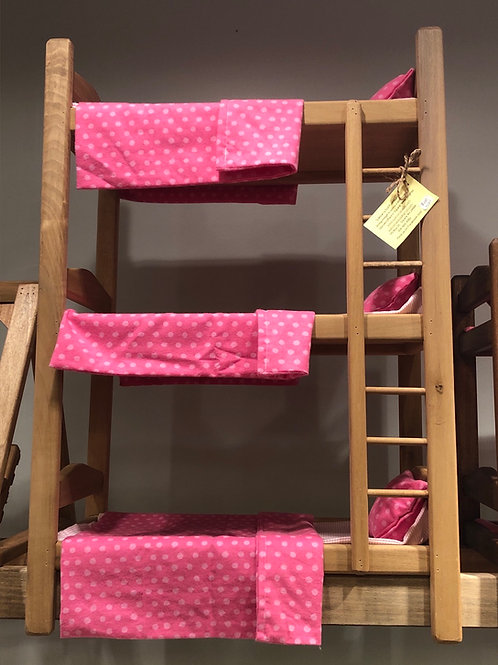 Triple Bunk Bed with Sheet Sets