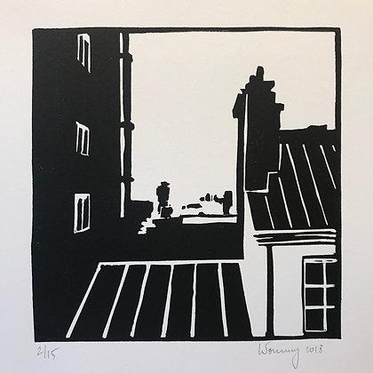 "Toits de Paris n°01 - ""La dent creuse"""