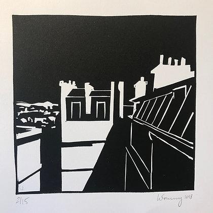 """Toits de Paris n°08 - """"Dans l'ombre du toit"""""""