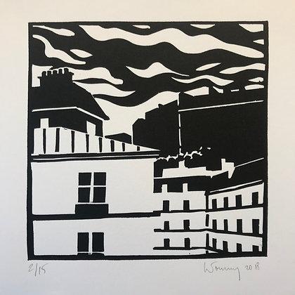 """Toits de Paris n°02 - """"Montmartre, la face Nord"""""""