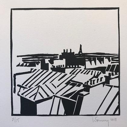 """Toits de Paris n°20 - """"Horizon d'Eiffel"""""""
