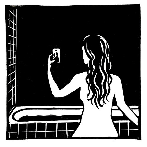 Selfie au bain
