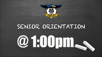 12th Grade Orientation On Friday, September 18, 2020