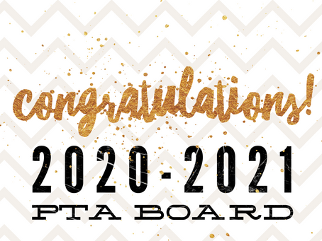 New PTA Board for 2020-2021