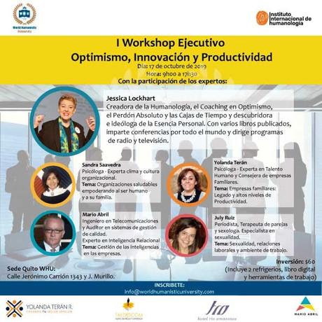 I Workshop Ejecutivo Optimismo, Innovaci