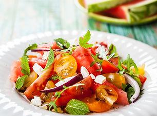 Frisk tomat salat